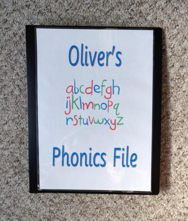 Personalised phonics file - phase 3